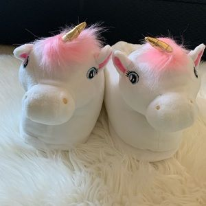 Shoes - Silver Lilly Unicorn Slippers